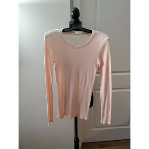 MICHAEL STARS Pink Crewneck Long Sleeve Top Sz OS
